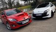 Essai Mazda3 MPS 260 ch vs Renault Mégane RS Trophy 265 ch : La brute et la bourgeoise
