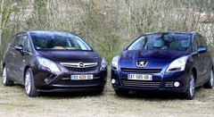 Essai Peugeot 5008 vs Opel Zafira Tourer : question de standing ?