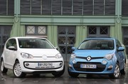 Essai Renault Twingo vs VW Up ! : quand elles arrivent en ville