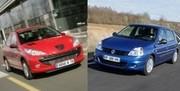 Peugeot 206, Renault Clio II : trajectoires hors normes
