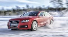 Essai Audi S5 Sportback : En travers, sur des lacs gelés en Laponie !