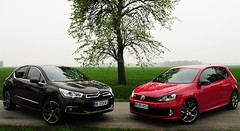 Essai Citroën DS4 THP 200 ch vs Volkswagen Golf GTI 35 : Classique ou atypique ?