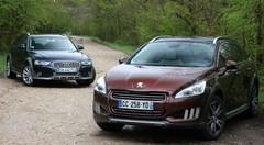 Essai Peugeot 508 RXH vs Audi A4 Allroad : terrain glissant