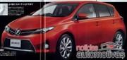 Toyota Auris 2 : des fuites de photos d'une brochure sur internet