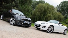 Essai Mazda MX-5 160 ch vs Mini Roadster 184 ch : Plaisirs découvrables