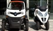 Essai Renault Twizy 80 vsPiaggio MP3 LT 500 ie : qui sera sacré roi des villes ?