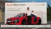 Audi R8 e-tron : record du tour du Nürburgring pour un véhicule électrique de série