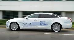 Jaguar XJ-e : un prototype hybride rechargeable