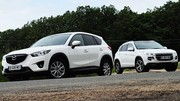 Essai Mazda CX-5 2.2 SKYACTIV-D 150 ch vs Peugeot 4008 1.8 HDi 150 ch : Les outsiders