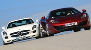 Essai Mercedes SLS AMG vs McLaren MP4-12C : Du racing et des ailes