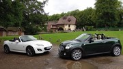 Essai Mazda MX-5 1.8 vs Mini Roadster Cooper