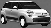 Les croquis de la Fiat 500XL