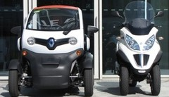 Essai Renault Twizy 80 vs Piaggio MP3 500 LT Business