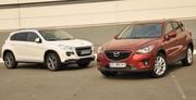 Essai Mazda CX-5 vs Peugeot 4008 : le juste prix