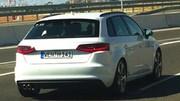 L'Audi A3 Sportback sans camouflage sur la route