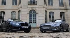 Essai Bentley Continental GTC V8 507 ch vs Jaguar XK Cabriolet 385 ch : Une affaire de cœurs