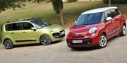Essai Fiat 500 L vs Citroën C3 Picasso : du charme et du volume