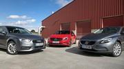 Essai Audi A3 vs Mercedes Classe A vs Volvo V40 : prime à la classe