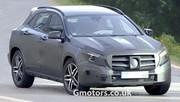 Mercedes GLA, le futur crossover sous camouflage