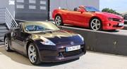 Essai Chevrolet Camaro Cabriolet V8 405 ch vs. Nissan 370z Roadster V6 328 ch : Duel épique