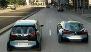 Une BMW i4 au salon de Los Angeles