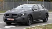 Le Mercedes GLA espionné en vidéo