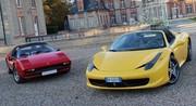 Comparatif Ferrari 308 GTB (1979) vs. Ferrari 458 Italia (2012)