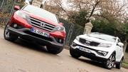 Essai Honda CR-V 2.2 i-DTEC 150 ch vs. Kia Sportage 2.0 CRDi 184 ch : SUV de long cours