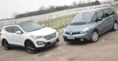 Essai Renault Espace et Hyundai Santa Fe : des voitures à vivre ?