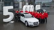 Audi : 5 millions de quattro dans la nature