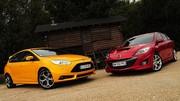 Essai Ford Focus ST 250 ch vs. Mazda 3 MPS 260 ch : Conflit de générations