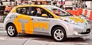 Six Nissan Leaf pour les taxis de New York