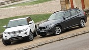 Essai BMW X1 xDrive 25d 218 ch vs Range Rover Evoque SD4 190 ch : Elevation premium