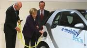 Angela Merkel soutient toujours la voiture électrique