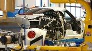 L'Alfa Romeo 4C photographiée sur sa ligne d'assemblage