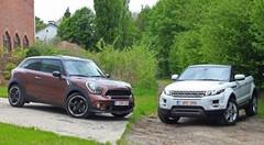 Essai Range Rover Evoque Coupé vs Mini Paceman : Prototypes en série