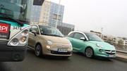 Essai Fiat 500 TwinAir Lounge vs Opel Adam 1.4 Twinport 87 ch Glam : Pour vous les femmes