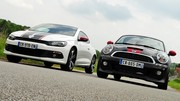 Essai Mini Coupé JCW vs Volkswagen Scirocco GTS : Bandes sportives