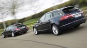 Essai Mercedes CLS 250 CDI Shooting Brake vs Jaguar XF Sportbrake 2.2 i4 D. : Croqueuses de ruban