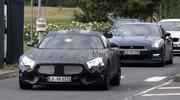 Le futur Mercedes SLC en test avec la Nissan GT-R