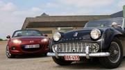 Essai Mazda MX-5 vs Triumph TR3 : Soyez authentiques !