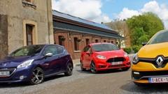 Essai Fiesta ST vs 208 GTI vs Clio RS : Ruades de plaisir !