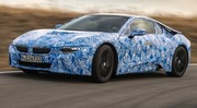 BMW i8 : la sportive hybride rechargeable roule à Miramas