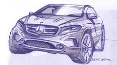 Mercedes GLA : premières esquisses