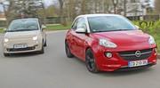 Essai Fiat 500 vs Opel Adam : Des puces à la carte