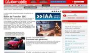 Salon de Francfort 2013: La plus grande messe automobile européenne de l'année