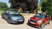 Essai Mini Cooper Cabriolet vs Volkswagen Coccinelle Cabriolet : Plaisirs neo retros
