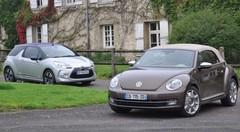 Essai Volkswagen Coccinelle Cabriolet et Citroën DS3 Cabriolet : rétro ou pas rétro