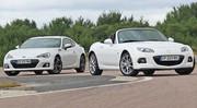 Essai Subaru BRZ vs Mazda MX5 : Auto écoles