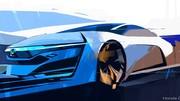 Première esquisse du concept Honda FCEV à hydrogène
